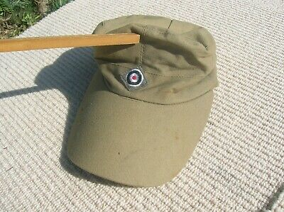 Military Style Cap Hat, Military Style , NOT SURE OF Age or Origin, Stains Wear