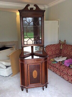 Beautiful Antique Mahogany Corner Cabinet