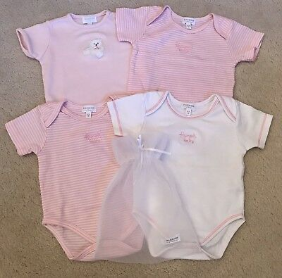 Harrods Baby Girl Bodysuits Newborn 0-3 Very Good Condition