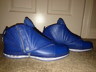 low priced 85e34 93db0 Air Jordan 16 XVI Retro Trophy Room RM FRENCH BLUE 854255 416 Nike Size 10.5