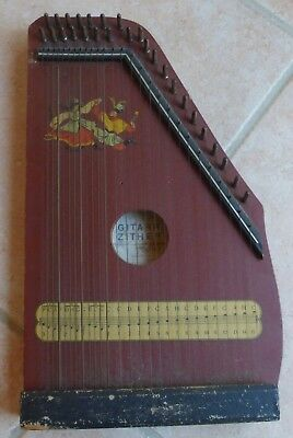 Ancienne CITHARE / HARPE GITARR ZITHER Made in Germany