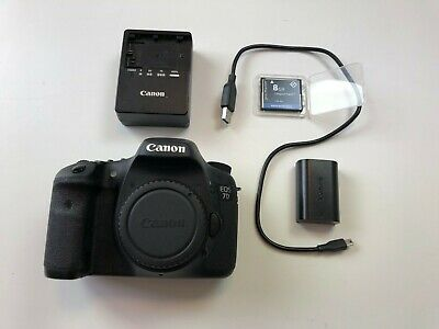 Canon EOS 7D 18MP DSLR Body ONLY with extras