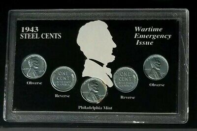 1943 Lincoln Steel Cents Set - Wartime Penny Emergency Issue - Philadelphia