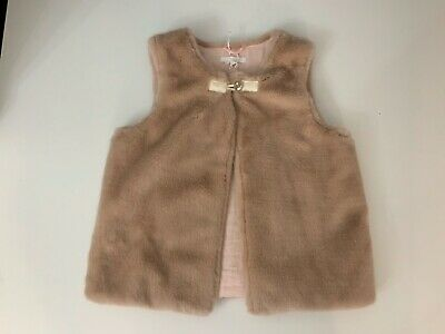 Chloe Peach Fur Gilet Body Warmer Age 12  Years Vgc Worn Once