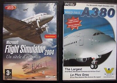 MICROSOFT FLIGHT SIMULATOR 2004 + A380 Wilco Fleet : LOT JEUX PC (CD