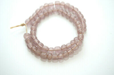"""13"""" Strand Old Antique Venetian CLEAR GOOSEBERRY Glass African Trade Beads"""