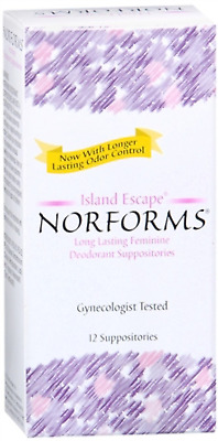 Norforms: Island Escape, Long Lasting Feminine Deodorant - 12 Suppositories