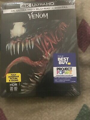 Venom (2018) [Steelbook] (4K Ultra HD + Blu-ray+ Digital) Best Buy Exclusive