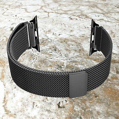 Black Color Adjustable Milanese Band for 38 40mm 42mm 44mm Apple Watch 5 4 3 2 1