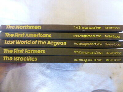 Time Life Books THE EMERGENCE OF MAN Lot of 5 Volumes