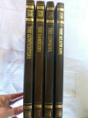 Time Life Books THE  OLD WEST - 4 Volumes Great Embossed Leatherette