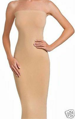 8488b32701a WOLFORD FATAL DRESS in TAPIOCA - BODYCON TUBE STRAPLESS STRETCH SKIRT TOP -  MED