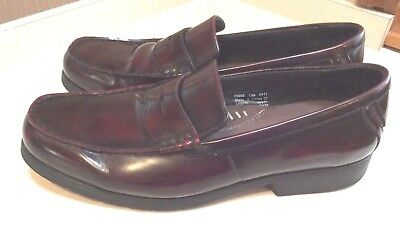 80783555e95 Mens Penny Loafers Bostonian 13 M Burgundy Leather Moc Slip On Shoes