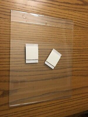 """Lot of 4 14"""" x 11"""" Wall Mount Sign Holder Clear Acrylic Picture Frame Poster"""