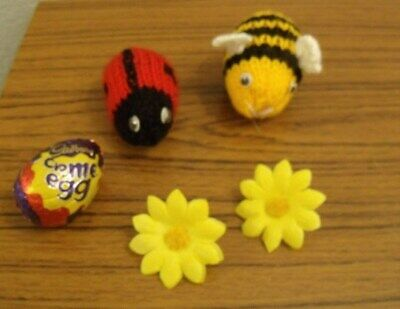 bee and ladybird toy dk knitting pattern 99p