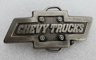 Vintage CHEVY TRUCKS Bowtie  Belt Buckle (GABC)