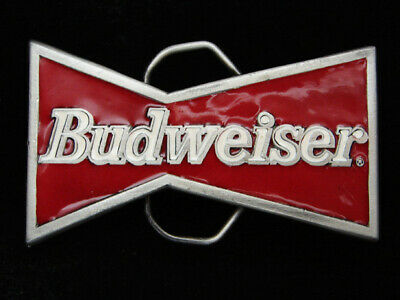 Qc09147 Vintage 1982 Cut-Out **Budweiser** Anheuser-Busch Beer Belt Buckle