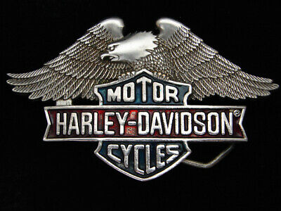 Pg23165 Vintage 1983 **Harley-Davidson Motorcycles** Chrome Solid Brass Buckle