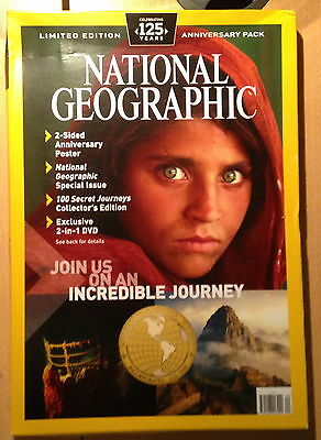 National Geographic Magazine 125 Anniversary Pack,POSTER,DVD LIMITED EDITION NEW