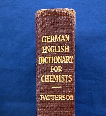 Antique 1935 German English Dictionary Chemists Chemistry Language Book Science