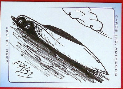 THUNDERBIRDS - SCARCE INK SKETCH CARD - FAB 1 - by James Ramsey - Cards Inc 2004