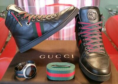 1dd08268a Authentic Gucci shoes mens 221825 size 9g/10u.s, Gucci sneakers mens black