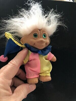 Troll Doll - Clown With Hat. Original Clothing; Unrestored. Vintage 1980's