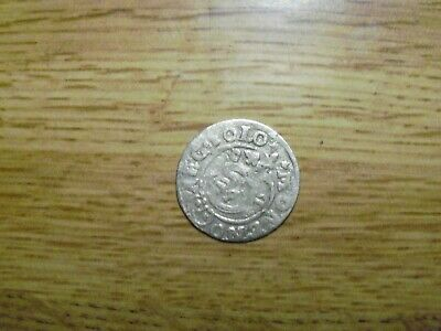 Silver 1600s Medieval or Pirate era Coin . Lot #G08