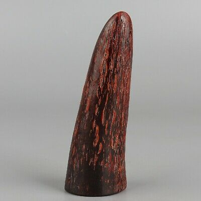 Chinese Exquisite Handmade Ox Horn statue