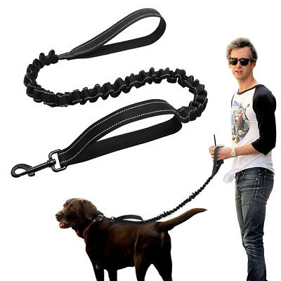 High Stretch Elastic Bungee Dog Leash Reflective For Police K9 Tactical Training