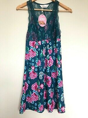 New Peter Alexander Womens Slinky Nightie Size Xs Floral Rrp$79.95