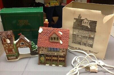"2 -Dept 56 Heritage Village Collection ""Shops Of Dickens Village"" And ""Postern"""