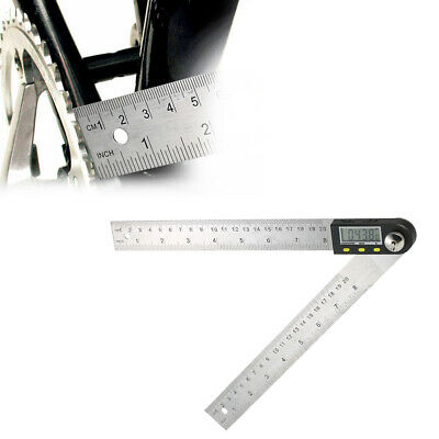 0-200mm Digital Angle Finder Protractor Ruler Stainless LCD With batteries S3N7