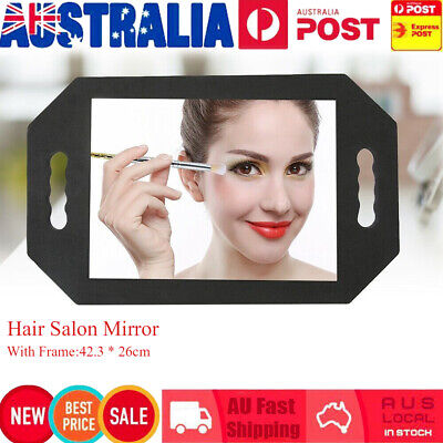 Salon Mirror Hair Dressing Handheld Foam Hairdressing Makeup Hair Women Tool AU