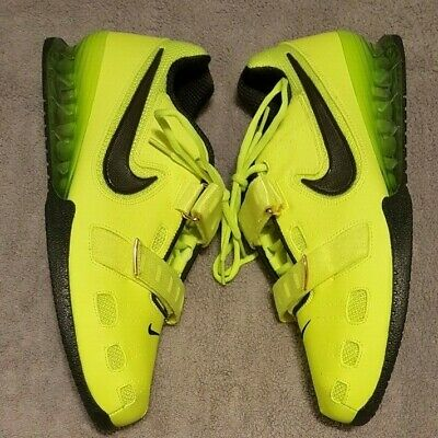 new styles 2893c 8c142 NIKE ROMALEOS II 2 WEIGHTLIFTING SHOES (476927-700) VOLT BLACK MEN S -