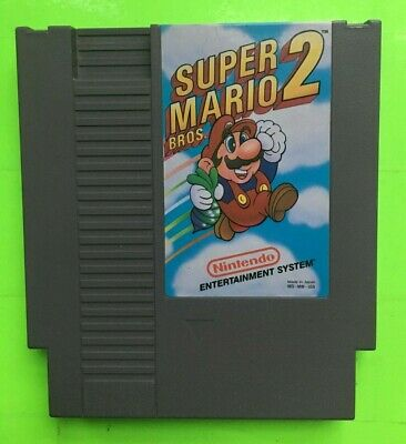 Nintendo NES - Super Mario Bros 2 CLEANED & TESTED