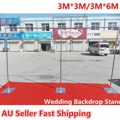 3/6Mx3M Wedding Party Backdrop Stand Stage Telescopic Pipe Pole and Base Kits
