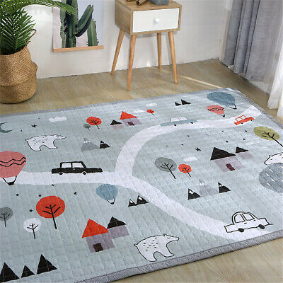 1.9mx1.4m Foldable Baby Kids Nursery Play Crawling Mat Game Floor Blanket