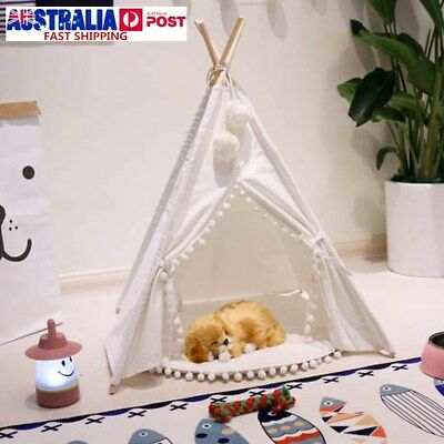 Kids Teepee Tent Children Home Canvas Pretend Play Playhouse Tipi Outdoor