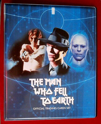 DAVID BOWIE The Man Who Fell To Earth - ULTRA RARE BINDER + COMPLETE BASE SET