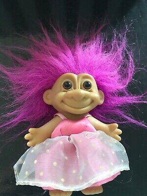 Troll Doll Vintage. Hot Pink Mamma. Original Unrestored Russ. Removable Outfit.