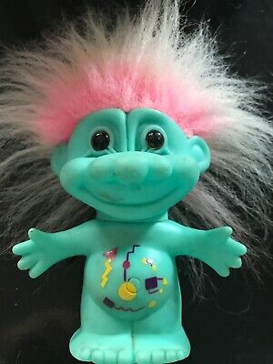 Troll Doll Vintage. Green Man. Circa 1990's Unrestored Condition.