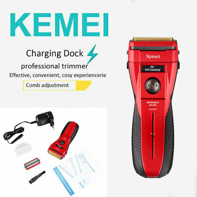 Electric Rechargeable KEMEI Men Cordless Hair Clipper Trimmer Beard Shaver Razor