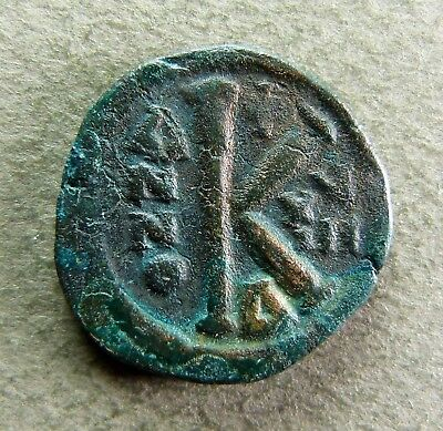 BYZANTINES - JUSTINIEN Ier - Demi-Follis - Constantinople, An 18 - BC 165