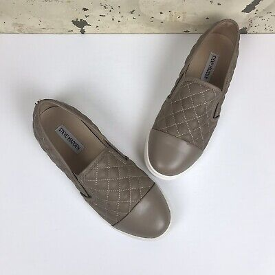 206f1bcb6ed STEVE MADDEN ZAANDER Taupe Tan 8 M Quilted Slip On Sneakers ...