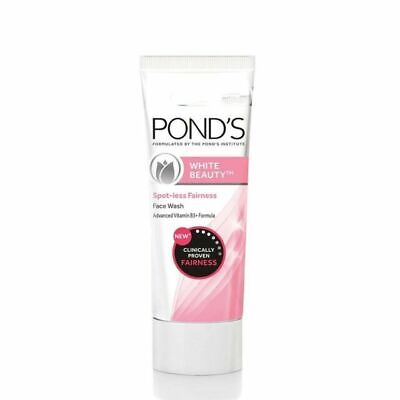 Ponds White Beauty Face Wash Lightning Facial Foam for soft skin free shipping
