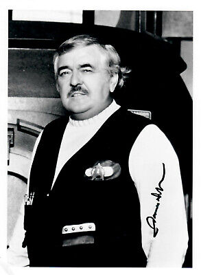 Original Autogramm James Doohan als Scotty aus Star Trek, Foto 18x24cm
