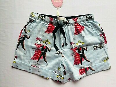 New Peter Alexander Womens Dancing Skeleton Shorts Size Xs  Rrp$49.95