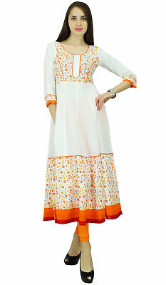 e4f967376c Phagun Floral Kurta Women Ethnic Cotton Anarkali Kurti Designer Dress -PCKL379A