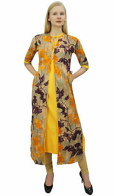 1b4e913007 Phagun Women's 2 Pcs Kurta With Jacket Dress Indian Designer  Clothing.-PCKL738A